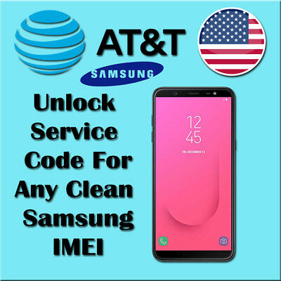 Factory Unlock Code Service For All Samsung AT&T Clean S9 S8 S7 J7 J5 A6 A5 Core
