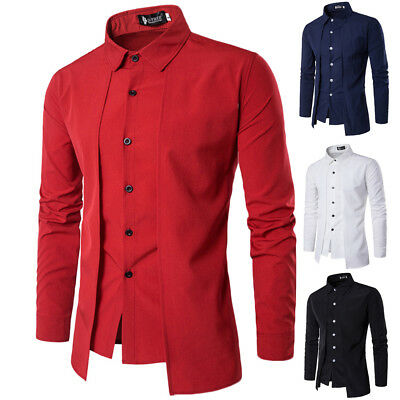 Men Formal Business Shirts Casual Luxury Slim Fit Long Sleeve Dress Shirts Tops