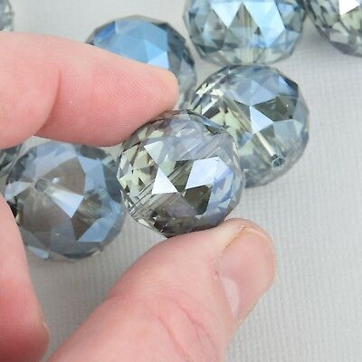20mm BLUE Vitrail Round Crystal Glass Beads, Faceted, 8 beads, bgl1833