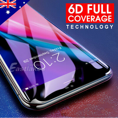 2x Apple iPhone 7 8 Plus - 6D Full Cover Curved Tempered Glass Screen Protector