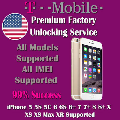 Premium Factory Unlock Service For iPhone T-Mobile USA 5 6 6S 7 8 XS XS MAX XR
