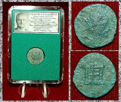 Ancient Roman Empire Coin Of CLAUDIUS GOTHICUS Altar With Flames On Reverse