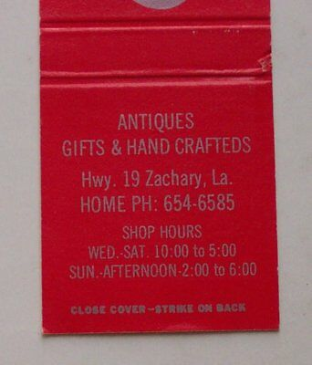 1980S FLORA LEIGH'S Interiors Zachary LA East Baton Rouge Co Matchbook  Louisiana