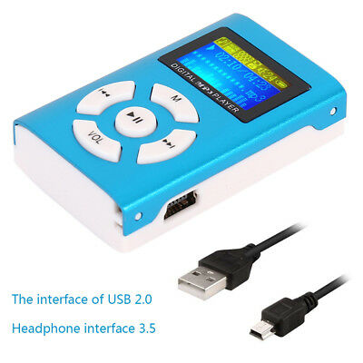 Portable iPod Style MP3 Player FM Radio Player With LCD Screen Micro SD Card AU