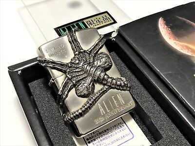 "Rare! ZIPPO Limited Edition ""FACEHUGGER"" ALIEN 20th Anniversary Giger Lighter"