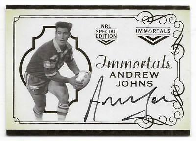 2018 Nrl Glory Hall of Fame Immortals Signature (IMS8) Andrew JOHNS 078/140
