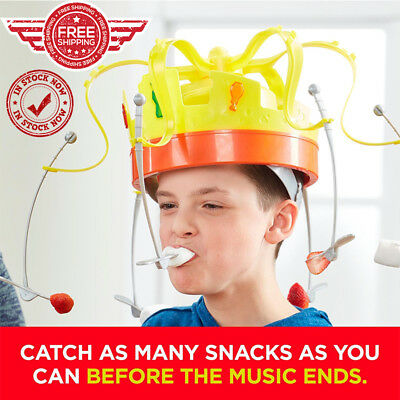 Chow Crown game Fun Toys Musical Food Challenge Family Party Game Hat New Gift