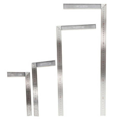Stainless Steel L-Square Angle Ruler Woodworking Measuring Tool 4 Size Replace