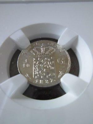 Netherlands East Indies 1/10 Gulden 1882 NGC Unc Details