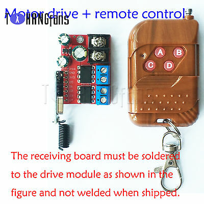 5A Dual Motor Drive Module Remote Control Forward Reverse Double H Bridge ATF