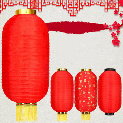 Chinese Red Paper Lantern Traditional Festival Hanging Pendant Decor 1PCS Home