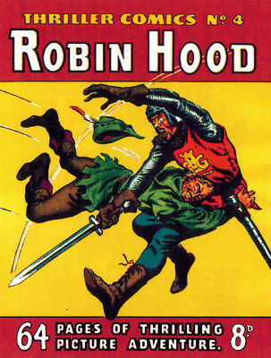 THRILLER COMICS / PICTURE LIBRARY No.4 - ROBIN HOOD  Facsimile