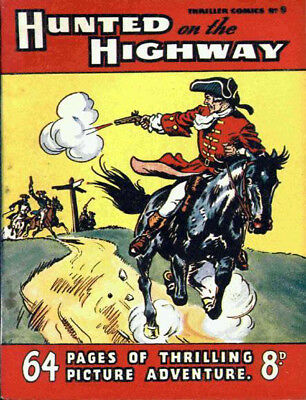 THRILLER COMICS / PICTURE LIBRARY No.9 - HUNTED ON THE HIGHWAY  Facsimile