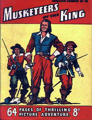 THRILLER COMICS / PICTURE LIBRARY No.12 - MUSKETEERS OF THE KING  Facsimile