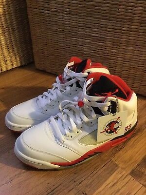 premium selection b46ca 3489d Nike Air Jordan 5 Retro White FireRed Size 9,5Us Taille 43Eur