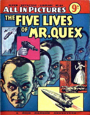 SUPER DETECTIVE LIBRARY LIBRARY No.64 - THE FIVE LIVES OF MR. QUEX Facsimile