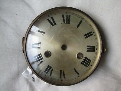 A Hac Striking Mantel Clock Brass Bezel With Its Dial And Convex Glass