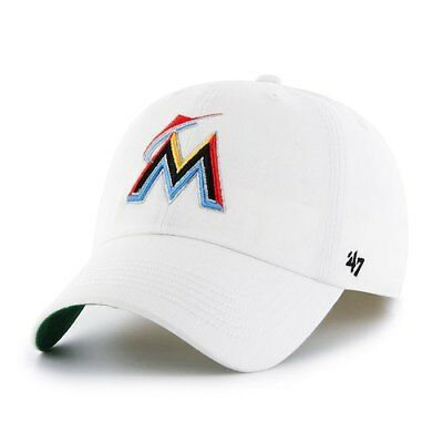 low priced 011c8 6ff13  47 Miami Marlins White MLB Franchise Fitted Hat.