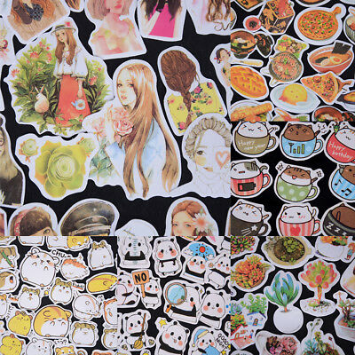 Korean Diary Label Deco Stickers Cartoon Cute Scrapbooking Books DIY Tags YL WL