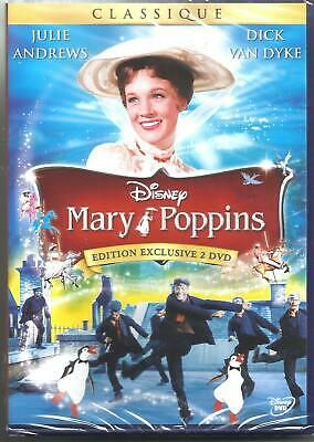 MARY POPPINS DISNEY N°21 édition 45éme anniversaire 2 DVD NEUF SOUS BLISTER