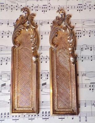 A Stylish Pair of Vintage French Gilt Rococo Design Door Finger Plates (C)