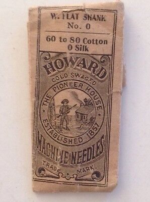 Howard:  Cold Swaged Machine Needles, W. Flat Shank  - Sewing Needle Packet
