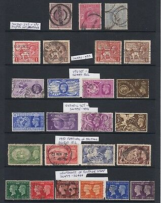King George V & George V1 Stamp Collection inc High Values + Festival of Britain