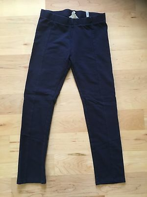 H&M girls dark blue leggings size 8-9 Y