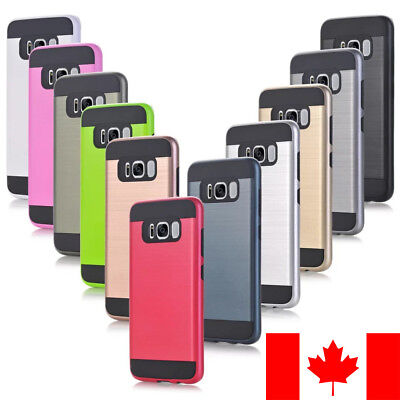 Captive Covers [CC] Brushed Metal Slim Armor Hybrid Shockproof case for Samsung
