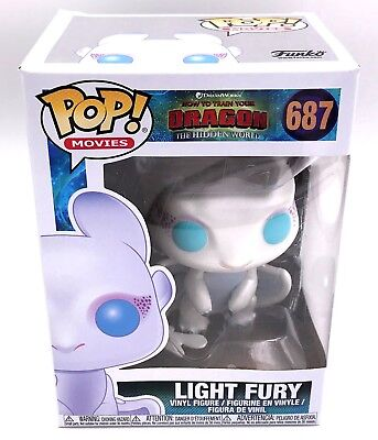 IN HAND Funko POP Light Fury #687 How to Train Your Dragon 3 Vinyl Figure 2019