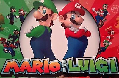 Super Mario & Luigi Red Green A4 Poster Picture Print A4 Wall Art Children Kids