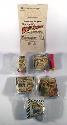 McDonalds 1992 Mystery Of The Lost Arches Complete Set 6 Toys & Bag & Variation