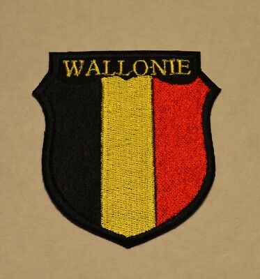 patch , écusson ,belgique wallonie , broder et thermocollant 7.5cm