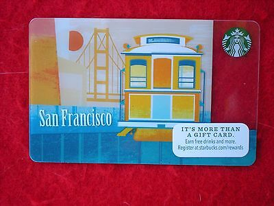 """Lot of 10 """"STARBUCKS"""" 2015 """"San Francisco Cable Car Golden Gate  Cards-$0-Value"""