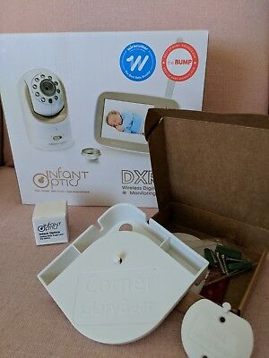 New Infant Optics Dxr-8 Wireless Video Baby Monitor With Shelf + Wide Angle Lens