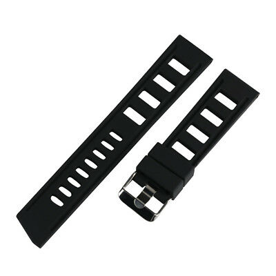 20/22mm Silicone Rubber Watch Band Strap Replacement Bracelet Spring Bars