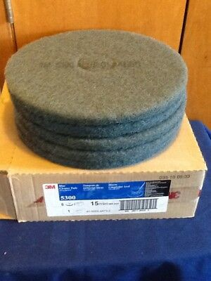 "3M Blue Cleaner Pad 5300 15"" Floor Care Cleaner Pad (Box of 5)"