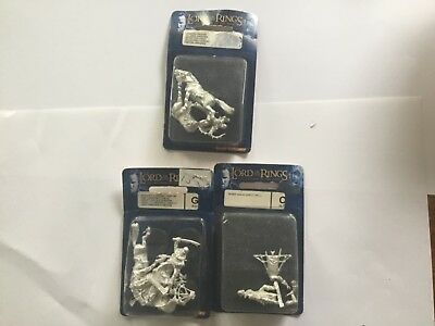 Games Workshop Lord of the Rings Metal Haradrim Lot NEW 3 Blisters Chieftan