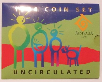 "* 1994 Royal Australian Mint "" Uncirculated Six Coin Set * With Sleeve """