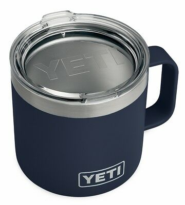 Brand New YETI Rambler 14 oz Stainless Steel Vacuum Insulated Mug w/ Lid - Navy