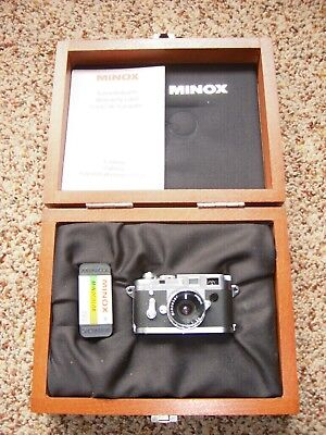 Minox miniature camera model #60501 with wooden case- Never Used!!!!!!