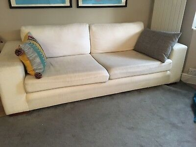 Incredible Cream White Sofa Fabric 3 Seater 45 00 Picclick Uk Pdpeps Interior Chair Design Pdpepsorg