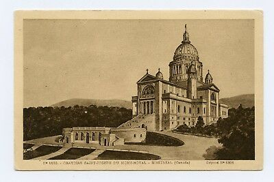 St. Joseph's Oratory of Mount Royal in Montreal, Canada Sepia Postcard