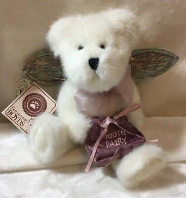 Boyds Bears Toof Beary Poseable with Pouch & Wings Plush with Tags 2002 Retired