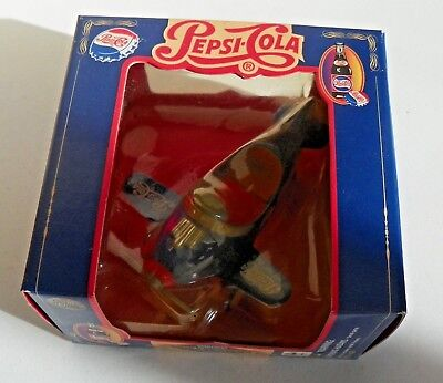 Nib Golden Wheel Pepsi Cola Die Cast Pedal Plane Logo Hundred Year Evolution