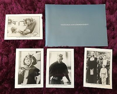 STAR WARS  episode 1  dossier  presse cinema  + 4 Photos Presse