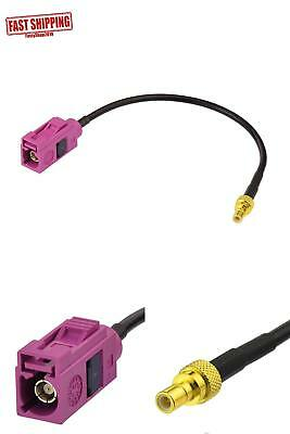 """Eightwood Fra H P Female Socket To Smb Plug Male Rf Cable 15Cm 6"""" For Sirius Xm"""