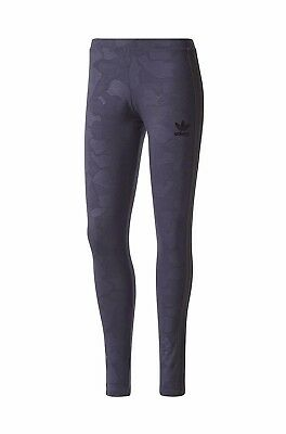 95c687fb65e28 Adidas Originals Womens 3S Trefoil Casual Gym Active Tight Leggings - Ink