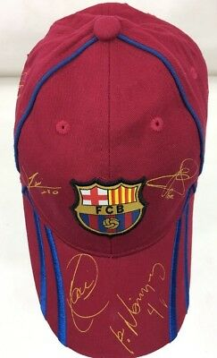2df39c15de0 Fc Barcelona Hat Cap Adjustable All Over Sign Cap FCB Soccer Sports Spain