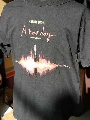 "CELINE DION ""A NEW DAY Live in LAS VEGAS"" Size XL Black T-Shirt"